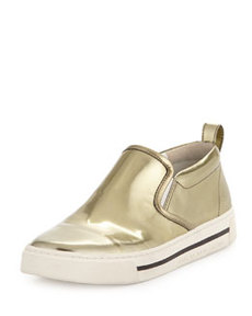 Givenchy Metallic Reflective Slip-On Sneaker, Gold