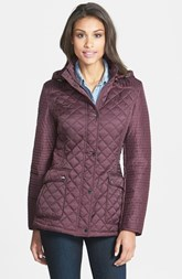 Laundry by Shelli Segal Quilted Jacket with Removable Hood