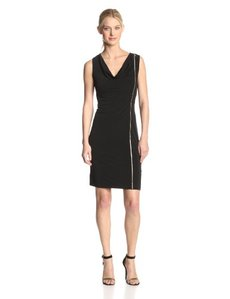 Calvin Klein Women's Solid Zipper Dress