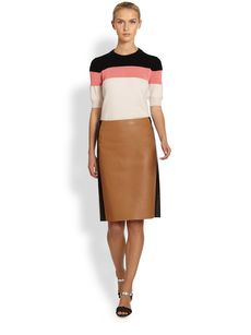 Fendi Bonded Leather Skirt