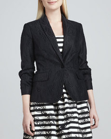 Lilly Pulitzer Campbell Lace Blazer, Black