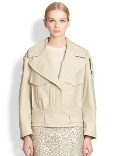 Jason Wu Cropped Utility Trenchcoat