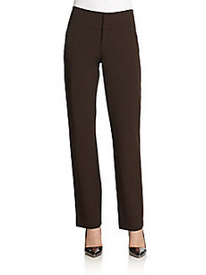 Lafayette 148 New York Straight-Leg Ponte Trousers