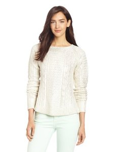 French Connection Women's Cable Classic Sweater