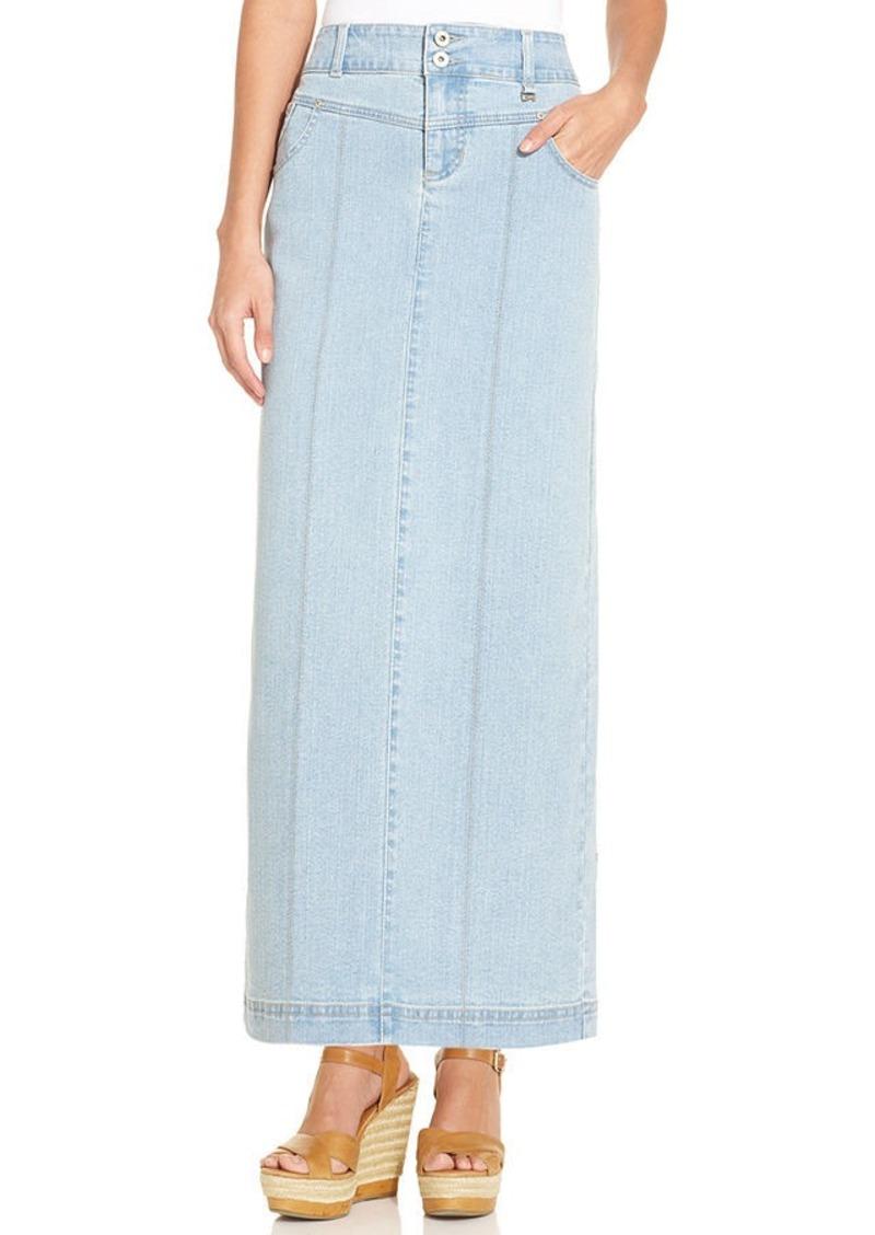 style co style co tummy denim maxi skirt cloud
