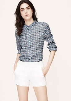 Petite Floral Tile Softened Shirt