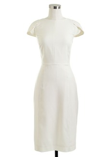 Petal-sleeve dress in Super 120s