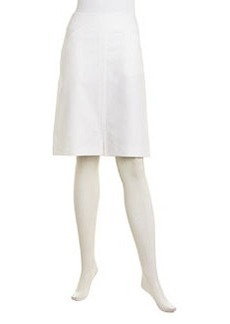 Lafayette 148 New York Stretch Metro Pencil Skirt, White