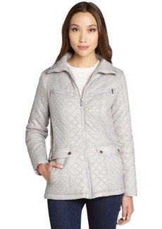 DKNY dusk quilted 'Kacey' mock neck coat
