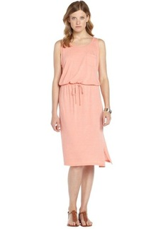 C & C California living coral jersey crisscross back drawstring tank dress