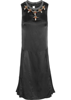 Marni Embellished satin-twill dress