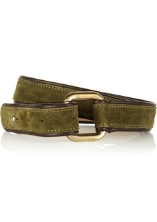 M Missoni Leather-trimmed suede belt