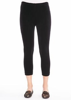 Joan Vass Velour Cropped Leggings, Petite
