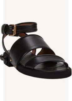 Givenchy Jeweled Double-Band Ankle-Strap Sandals