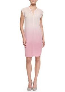 Layered Dip-Dye Silk Dress   Layered Dip-Dye Silk Dress