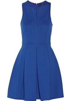 Tibi Pleated stretch-ponte mini dress