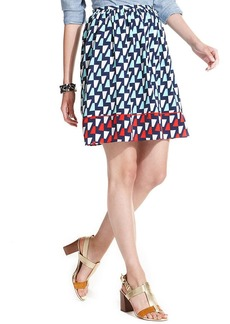 Tommy Hilfiger Printed Pleated A-Line Skirt