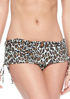 Tory Burch Reva Cinched-Skirt Bikini Bottom
