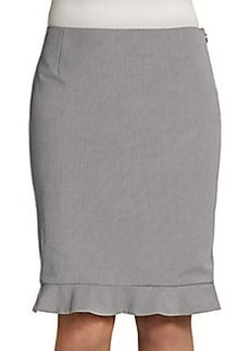 Elie Tahari Ruth Ruffle-Hem Pencil Skirt