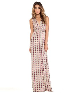Rachel Pally Long Sleeveless Caftan in Tan