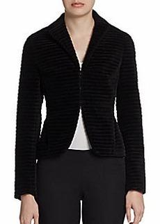 Akris Punto Ribbed Velvet Jacket
