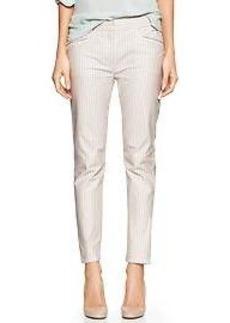 Stripe skinny mini skimmer khakis