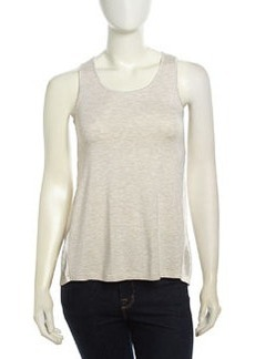 Design History Back Pleated Combo Tank, Heather Gray