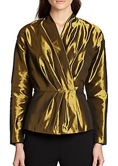 Lafayette 148 New York Delphi Metallic Wrap Jacket