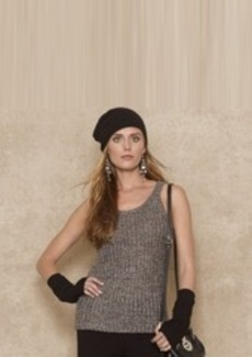 Cotton-Blend Sweater Tank