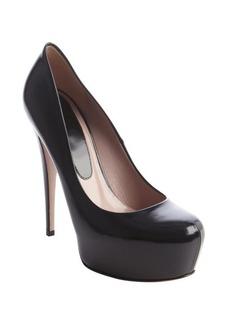 Gucci black patent leather platform stiletto pump