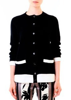 Marni Poplin-Back Knit Cardigan
