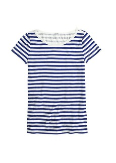 Vintage cotton scoopneck tee in stripe