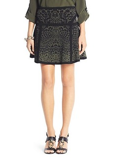 Flote Printed Fit and Flare Knit Skirt