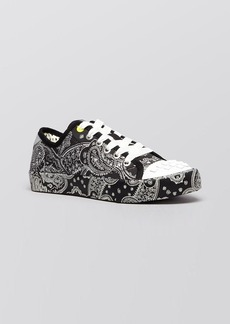 DKNY Flat Lace Up Sneakers - Barbara Studded