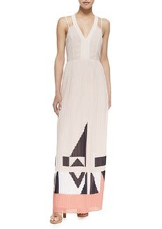 French Connection Marquee Parade Geometric Print Maxi Dress