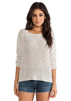 Joie Esther Textural Open Stitch Pullover in Ivory