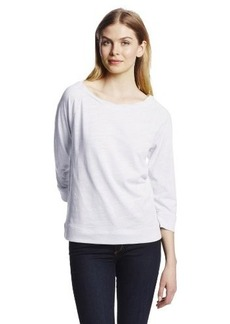Jones New York Women's Three Quarter Raglan Sleeve Ballet Neck Top