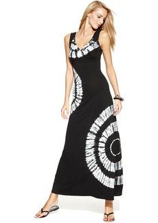INC International Concepts Petite Sleeveless Tie-Dye Maxi Dress