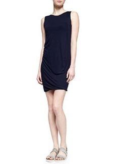 Vince Draped Sleeveless Jersey Dress