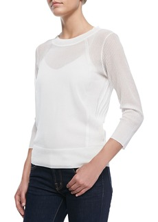 J Brand Ready to Wear Atwood Lightweight Ribbed Knit Sweater