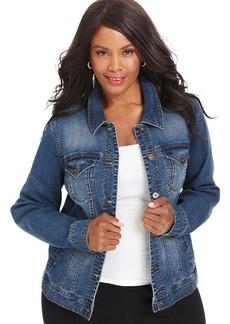 Style&co. Plus Size Denim Jacket, Mosaic Wash