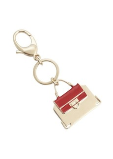 Salvatore Ferragamo red and goldtone metal handbag keychain