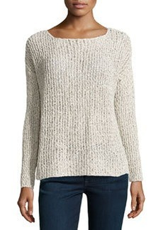 Joie Long-Sleeve Cable-Knit Sweater, Natural