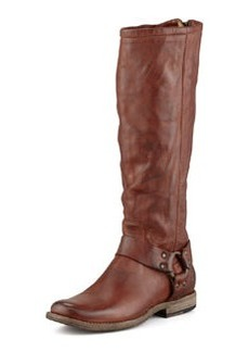 Frye Phillip Tall Harness Boot, Cognac