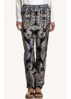 Lanvin Paisley Satin Pull-On Pants