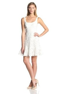 Nanette Lepore Women's Summer Garden Eyelet Sleeveless Tulip Hem Dress