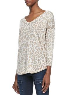 Joie Chyanne Leopard-Print Knit Sweater