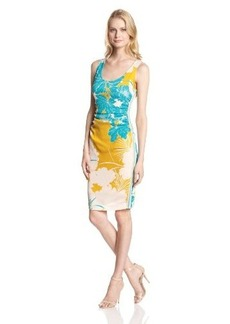 Tracy Reese Women's Crepe Floral-Print Tank Dress