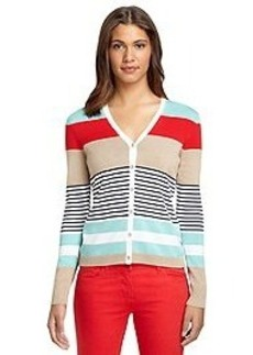 Long-Sleeve Engineer Stripe Cardigan