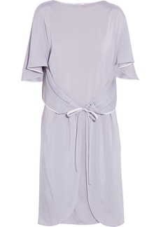 Chloé Draped stretch-satin jersey dress